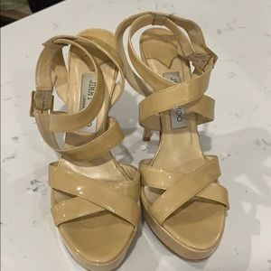 Jimmy Choo Nude Platform Sandals